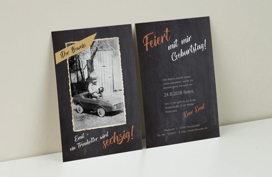 Einladungskarten 60 Geburtstag Selbst: Einladungskarten Zum Geburtstag Selbst Gestalten